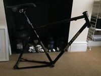 Large bike frame On One with parts project all new