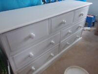 Large painted chest draws