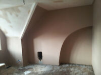 Clean, reasonably priced, fast English plasterer with 20 years experience