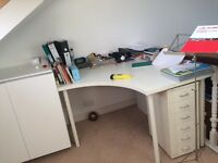 Matching desk and cupboard