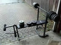 Bench press & weights set