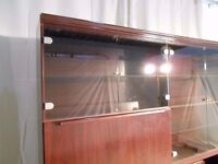 35.00 LARGE DISPLAY CABINET, TWO PARTS,