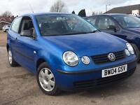 Volkswagen Polo 1.2 Twist 2004 + FULL SERVICE HISTORY + MOT TILL AUGUST 2017 + LOW 58,000 MILES!