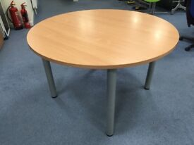 Beech Round Dining/ Office Table