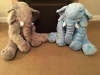 Elephant snuggle pillow x2