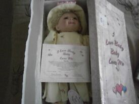 COLLECTIBLE DOLL IN BOX WITH CERTIFICATE ETC