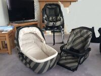 Mamas and Papas Ultima MPX Travel System Pram/Pushchair/Car Seat/Carrycot/High chair