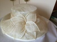 Cream wedding hat from George
