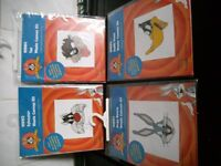 4 x WASTE CANVAS KITS BUGS BUNNY,DAFFY DUCK, TAZ, SYLVESTER ALL NEW