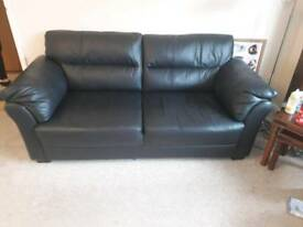 2 & 3 leather sofas