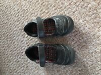 Black girls school shoes infant size 7