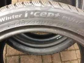 Winter Tyres - 2 x 245/40/19 & 2 x 275/35/19 (as new)