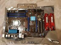 Intel i5 4690k CPU + MSI Z97 PC MATE MOTHERBOARD + 16GB DDR3 RAM COMBO