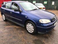 Vauxhall Astra Club 1598cc Petrol Automatic 5 door hatchback 19/04/2004 Blue