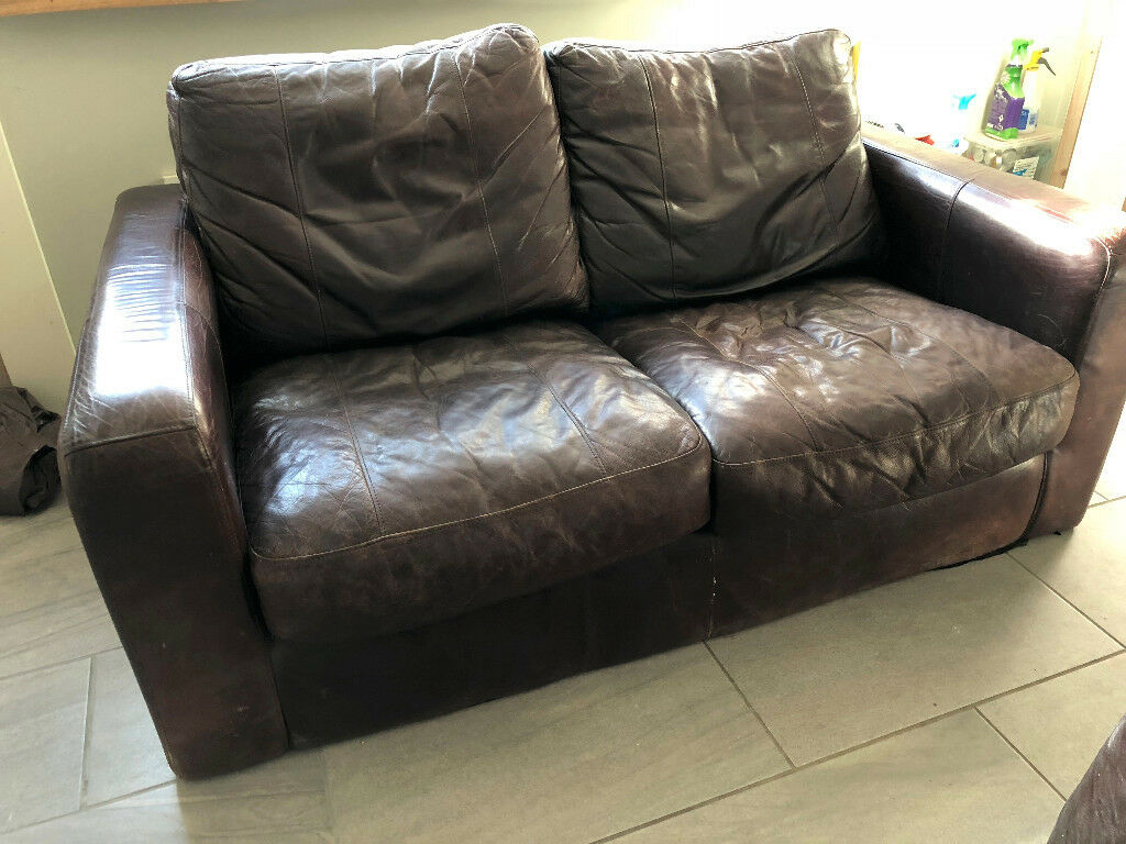 leather sofa with armchair