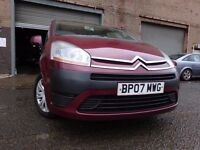 07 CITROEN C4 GRAND PICASSO SX 1.8,MOT FEB 018,2 OWNERS,2 KEYS,PART HISTORY,STUNNING CAR