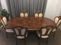 Dining Table With Extention And 8 Chairs