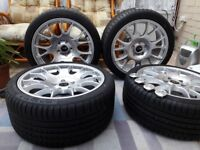 18 inch Motorsport Alloy Wheels New! With new Tyres