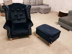 Armchair + footstool furniture