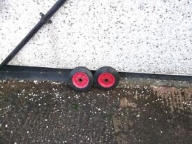 red stacker truck plastic wheels.