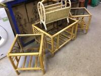 4 ITEMS OF CONSERVATORY FURNITURE