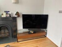 Dwell Divario TV Stand — Glass, Metal & Walnut