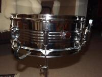 5X14 CHROME OVER STEEL 8 LUG SNARE - GREAT CONDITION!!
