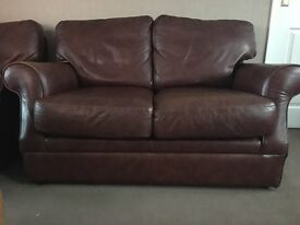 Two real leather sofas