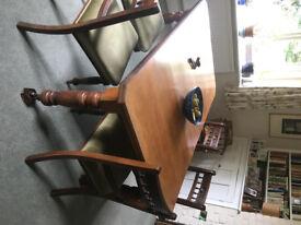 Mahogany victorian/edwardian extendable dining table