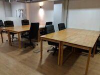 Julian Bowen Coxmoor OAK Tables /Desks x12 - FREE DELIVERY!