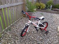 "Childs 12"" wheel Bike with stabilisers"