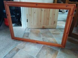 A Large Modern Pine Mirror For sale