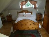 Bedroom suite ( wardrobe chest of drawers double bed)
