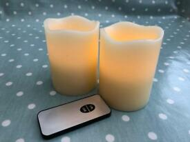 10 real wax battery candles