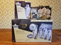 BRAND NEW UNUSED Tommee Tippee Express & Go Electric Breast Pump Set Bundle