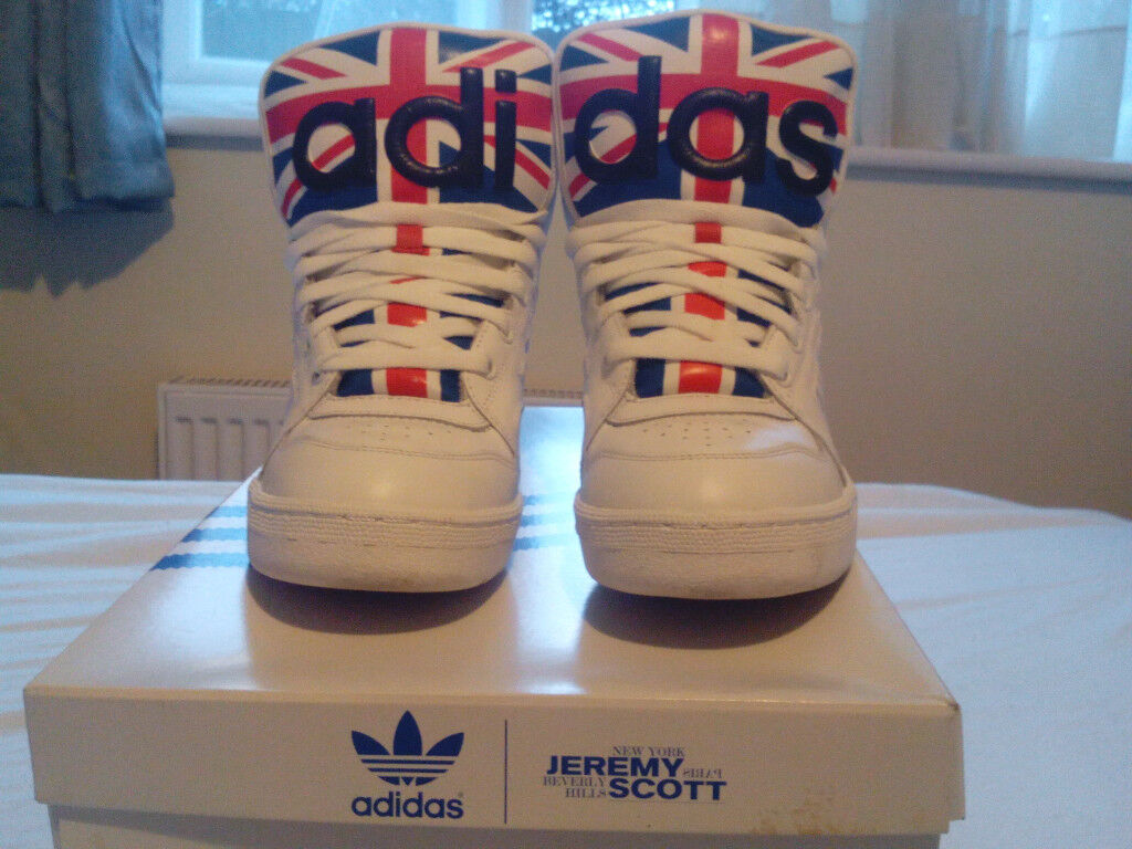 detailed pictures d6058 6a288 Adidas x Jeremy Scott Instinct Hi, Union Jack UK 7.5, RRP £200 (VERY RARE)