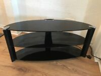 Glass TV stand, coffee table and side table