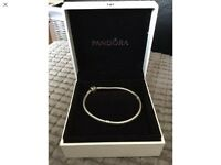 Genuine pandora bracelet with box and giftbag 19cm
