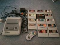 Super Nintendo SNES Console with 14 games