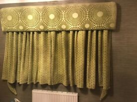 Gorgeous fully lined curtains and matching pellet