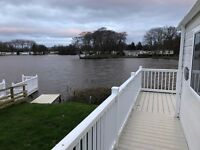 * Lakeside * Front row pitch available at Haggerston castle, Decking and dock for boats,