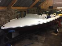 Speedboat with trailer and Mercury 50 hp Outboard