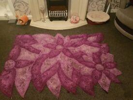 Purple rug 110 x 170cm