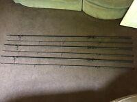 3x Greys Torsion 50 13ft 3.5lb - 50mm Butt Ring - Fishing Rod Set