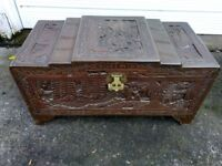 Blanket Box Chest Trunk Coffee Table etc Oriental Hand Carved