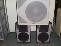 MARTIN AUDIO, BOSE, PUBLIC ADDRESS SPEAKER CABS