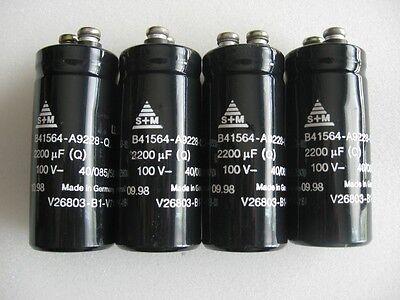 Qty. 4 S M Siemens Matsushita B41564-a9228-q 100v 2200uf Capacitors
