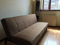 Brown couch / sofa bed
