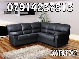 3 & 2 or Corner Leather Sofa Range Cash On Delivery 23522
