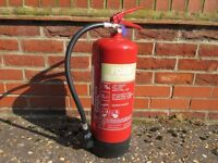 2 x foam and 1 x co2 fire extinguishers